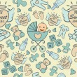 Seamless Baby Boy and Girl Pattern — Stockvectorbeeld
