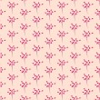 Seamless Pink Flower Pattern in Vector — Stock Vector
