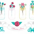 Mason Jars Cliparts Collection in Vector — Vettoriale Stock
