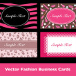 Beauty Business Card Collection in Vector — Imagen vectorial