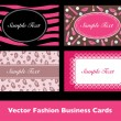 Beauty Business Card Collection in Vector — 图库矢量图片