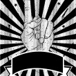 Black and White Political Poster Backgound in Vector — 图库矢量图片