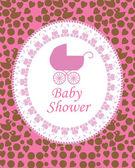 赤ちゃんの招待状カード背景ベクトル — ストックベクタ