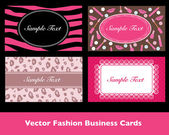 Beauty Business Card Collection in Vector — Stock Vector