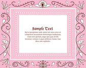 Wedding Invitation Card in Vector — Stock Vector