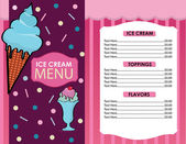 Ice Cream Menu in Vector — Stock Vector