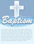 Baptism Card with Cross — Stock Vector