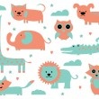 Stock vektor: Cute Animal Clipart Collection