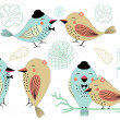 Love Birds and Birdcages Clipart in Vector — Wektor stockowy