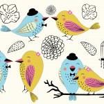 Love Birds and Birdcages in Vector — Stock Vector