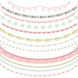 Garlands Set in Vector on White Background — Stock Vector #43105449