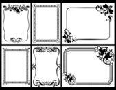 Collectie van beelden in zwart-wit — Stockvector