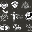Christian Symbols and Message Collection — Stock Vector