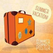Cute summer poster — Stock Vector