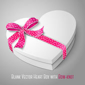 Blank white heart shape box — Stock Vector