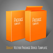 Blank paper packages for cornflakes, — Stock Vector