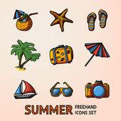 Summer holidays set — Stock Vector