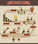 Ilustrador de gráfico vetorial de informação de negócios — Vetor de Stock
