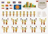 ASEAN economic community — Stock Vector