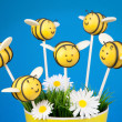 Stock Photo: Bee cake pops