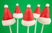Santa Claus hat cake pops — Stock Photo