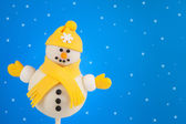 Snowman cake pop — Stock Photo