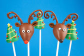 Reindeer cake pops — Stock Photo