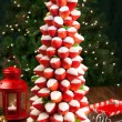 Strawberry Christmas tree — Stock Photo