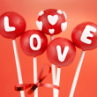 Valentine cake pops — Stock Photo