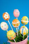 Easter egg cake pops — Stock Photo