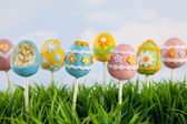 Easter egg cake pops — 图库照片