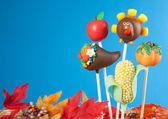Thanksgiving cake pops — Stock Photo