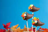 Cornucopia cake pops — Stock Photo