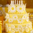 Stock Photo: Daisy birthday cake