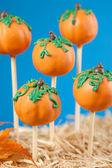 Pumpkin cake pops — Stock Photo