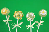 Flower cake pops — Stock Photo
