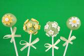 Flower cake pops — Stock Photo