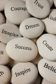 Inspirational stones — Stock Photo