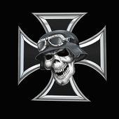 Skull and iron cross — Stock Photo