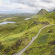Quirang road, Isle of Skye, Scotland. UK. — Stock Photo