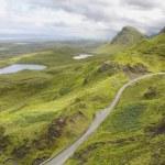 Quirang road, Isle of Skye, Scotland. UK. — Stock Photo