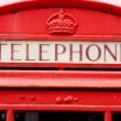 Red telephone box in Scotland, UK. — Stock Photo