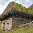 Teito (traditional house) in Asturias, Spain. — Stock Photo