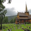 Stock Photo: Lom stave church (stavkirke), Lom, Norway