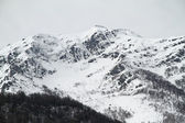 Snowy mountains at cantabrian ridge, Asturias. Spain. — Stock Photo
