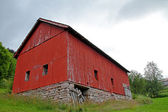 Red Barn in Norway — Stock Photo