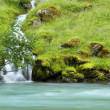 Stock Photo: Waterfall to blue river in Norway