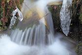 Ice close to a waterfall, Asturias. Spain. — Stock Photo