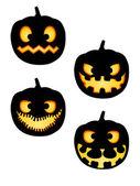 Halloween Pumpkin Silhouettes Pack — Stock Vector