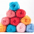 Pile of colorful skeins — Stock Photo